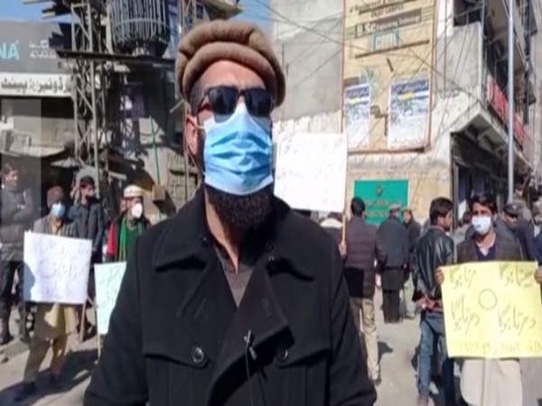 Disgruntled employees, healthcare workers in Gilgit-Baltistan hold an anti-government protest earlier this month.