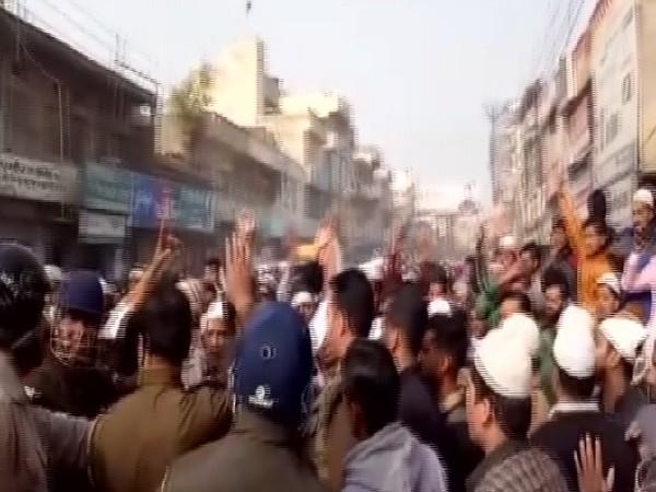 A visual of protest in Muzaffarnagar of December 20 (Photo/ANI)