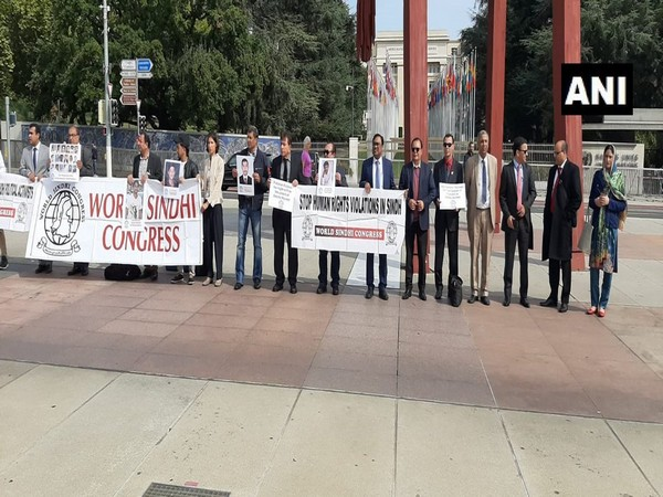 WSC holds protest outside UN headquarters on Tuesday. (Photo/ANI)