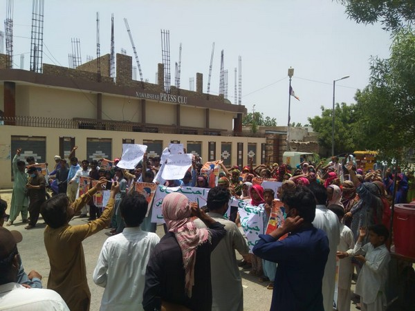 A protest was held against enforced disappearances in Nawabshah city, Sindh.