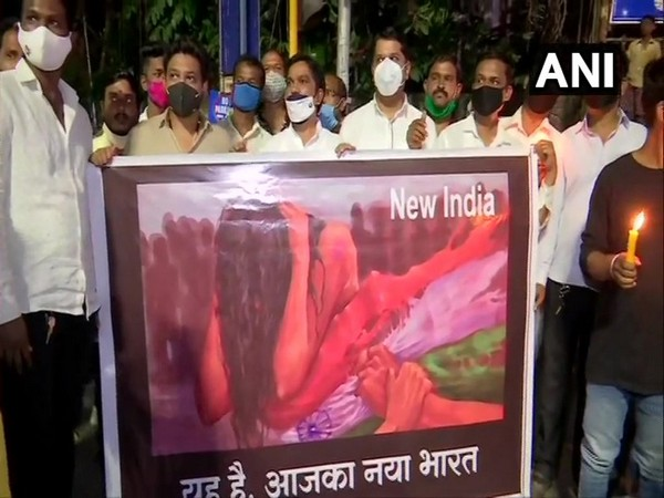 A visual from a protest. (Photo/ANI)