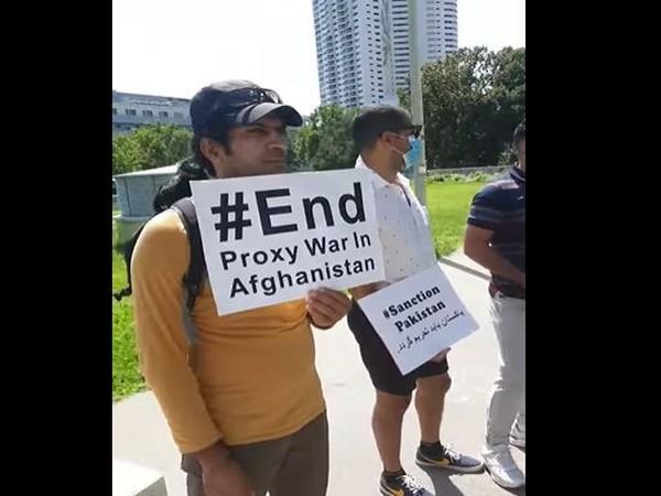 Protest organised by Afghan diaspora in Vienna on August 9.