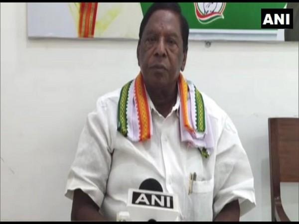 Former Chief Minister of Puducherry, Narayanswamy. (Photo/ANI)