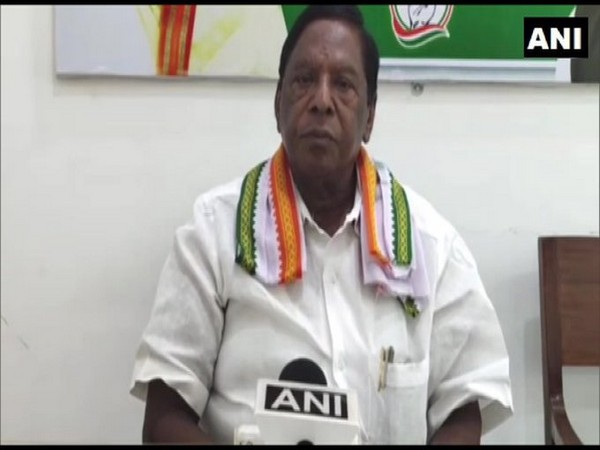 Former Puducherry Chief Minister V Narayanaswamy. [Photo/ANI]