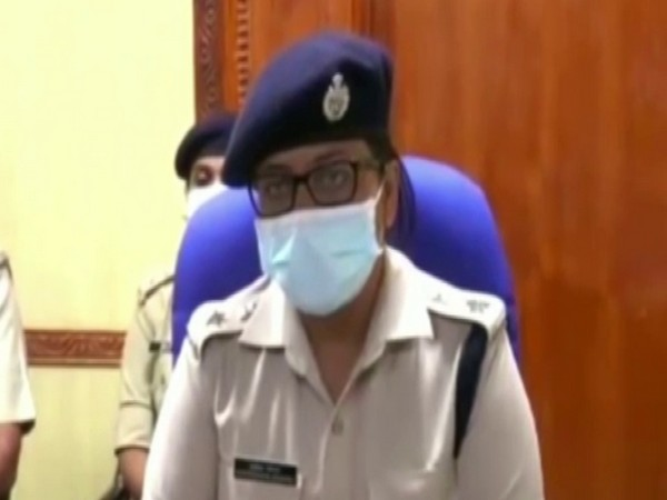 SSP Pratiksha speaking to media in Puducherry on Monday.