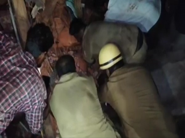Two persons lost their lives in a fire accident that took place in Puducherry's Ariyankuppam on Monday. (Photo/ANI)