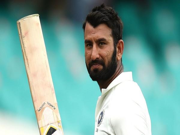 Indian batsman Cheteshwar Pujara (Image:  R P Singh's Twitter)