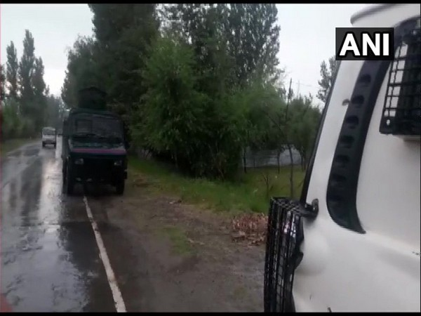 Visuals from Pulwama where blast took place on Monday. Photo/ANI