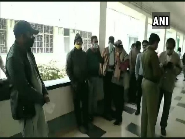 Police inquiring at the Rourkela Steel Plant about the gas leak that killed four people on Wednesday. (Photo/ANI)