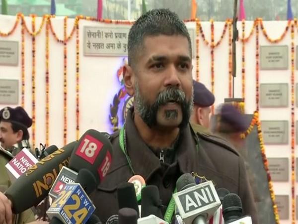 Umesh Gopinath Jadhav, a Bengaluru-based singer speaks to media persons in Jammu and Kashmir on Friday. Photo/ANI