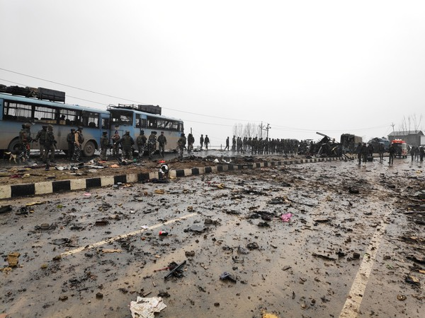 The site of the Feb 14 Pulwama terror attack (file photo)