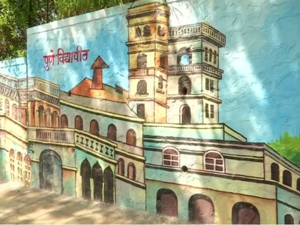 Pune Municipal Corporation has painted different walls with the city's famous landmarks. Photo/ANI