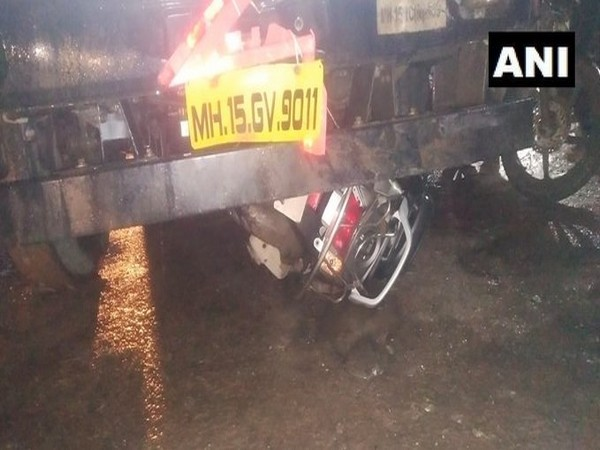 A truck rammed several vehicles and pedestrians in Lavale Phata [Photo/ANI]