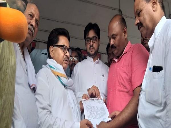 Congress leadeer PL Punia in Barabanki, Uttar Pradesh on July 7. Photo/ANI