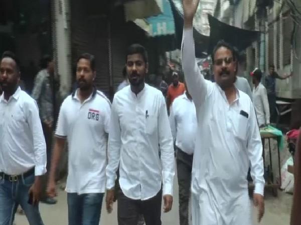 Valmiki community protesting in Ludhianaon Saturday. Photo/ANI