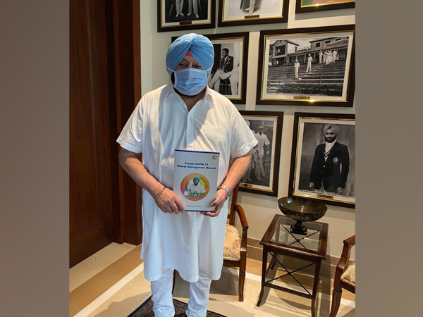 Punjab Chief Minister Captain Amarinder Singh with the Manual on COVID-19