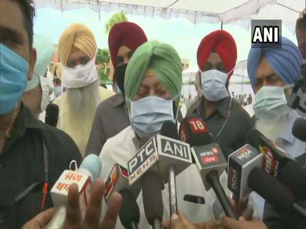 Punjab Chief Minister Captain Amarinder Singh while speaking to media. (Photo/ANI)