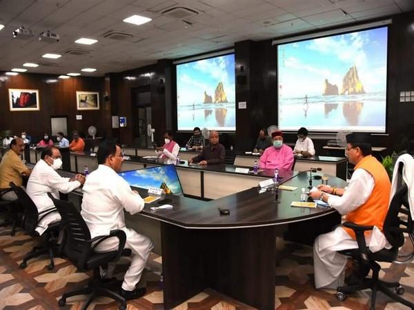 Uttarakhand CM Pushkar Singh Dhami in cabinet meeting on June 5 (Photo/ANI)