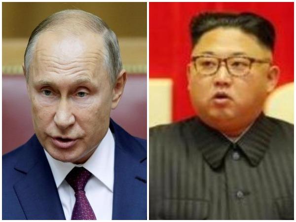 Russian President Vladimir Putin, North Korean leader Kim Jong-un
