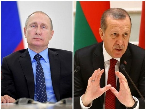 Russian President Vladimir Putin, Turkish President Recep Tayyip Erdogan (file photos)