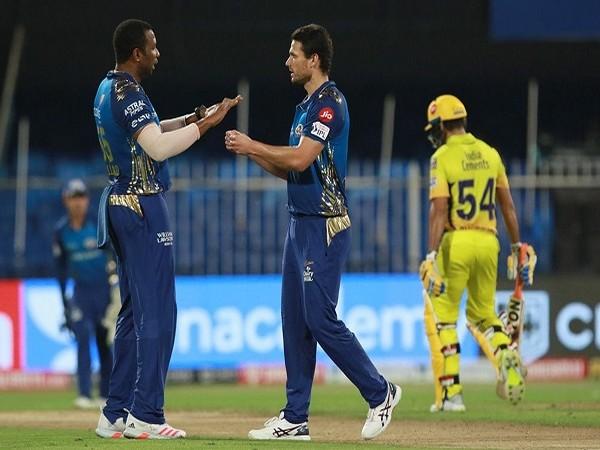 Mumbai Indians cricketers Kieron Pollard and Nathan Coulter-Nile  (Image: BCCI/IPL)