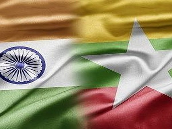 India and Myanmar flags
