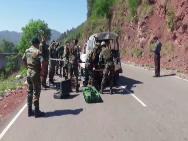 Visuals from the Jammu-Poonch Highway, Photo/ANI