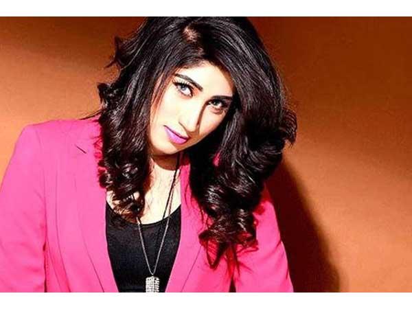 A file photo of slain model Qandeel Baloch.