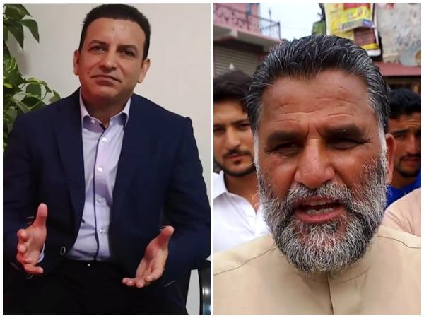 Political activist Nasir Aziz Khan (L) and Sardar Sagir Khan leader of Jammu Kashmir Liberation Front (JKLF)