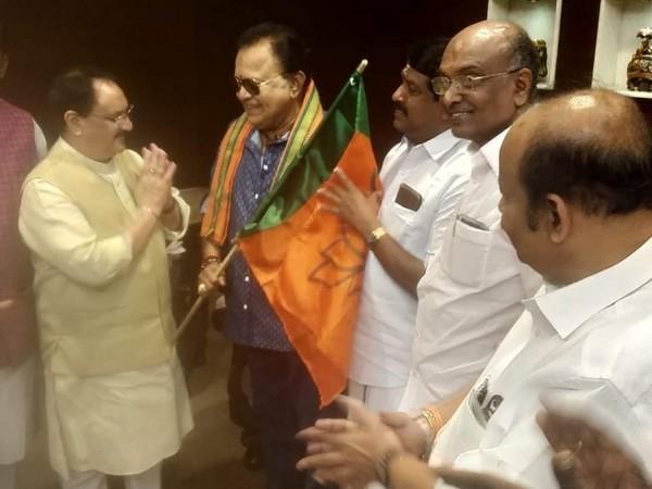 Tamil actor Radha RAvi joins BJP in Chennai on Saturday in presence of working president JP Nadda