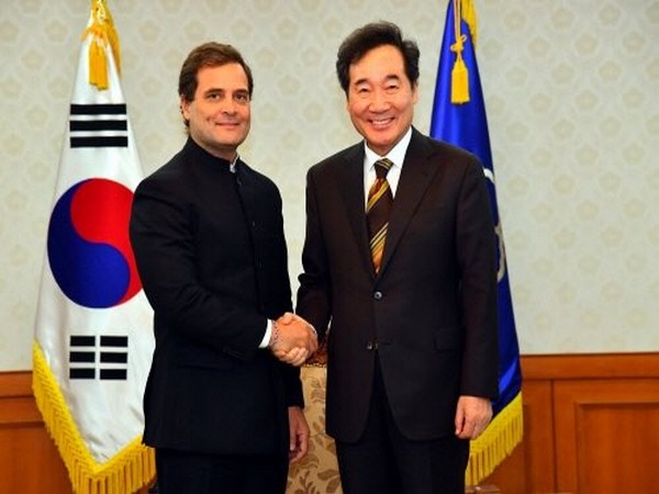 Congress leader Rahul Gandhi on Tuesday met South Korean Prime Minister Lee Nak-yon and other officials in Seoul. (Photo courtsey: Twitter- Rahul Gandhi)