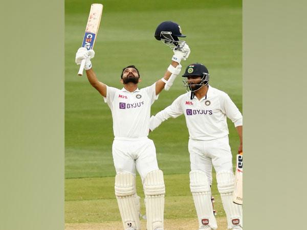 Indian batsmen Ajinkya Rahane and Ravindra Jadeja (Image: BCCI's Twitter)