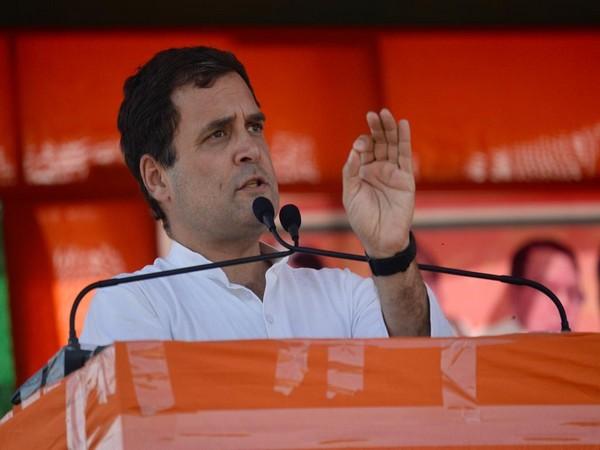 Congress President Rahul Gandhi. File Photo: ANI