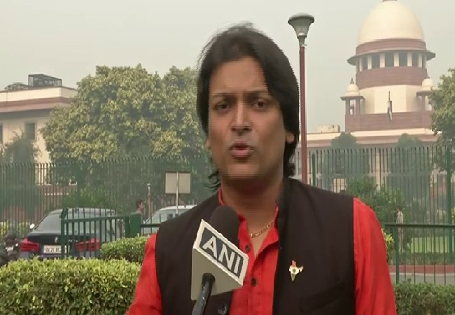Rahul Easwar speaking to ANI in New Delhi on Wednesday. Photo/ANI
