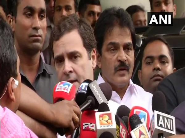 Congress MP Rahul Gandhi speaking to media persons in Cochin, Kerala on Tuesday. (Photo/ANI)