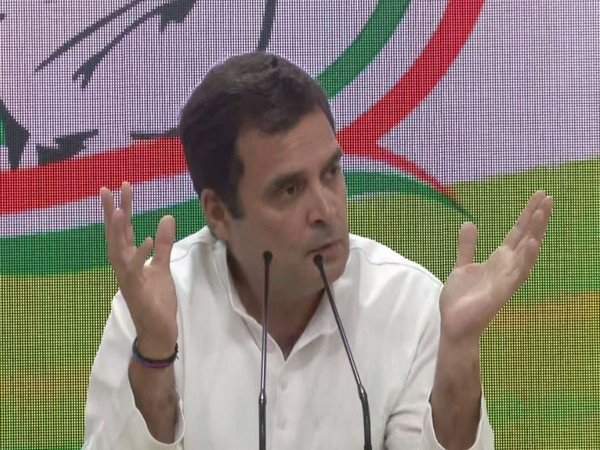 Congress president speaking at a press confernce in New Delhi on Friday. (Photo/ANI)