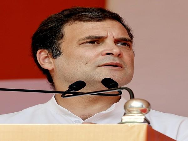 Congress leader Rahul Gandhi [Photo/ANI]