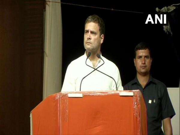 Congress party chief Rahul Gandhi