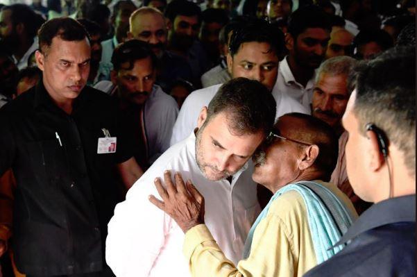 Congress President Rahul Gandhi in Amethi on Wednesday. Photo/ANI