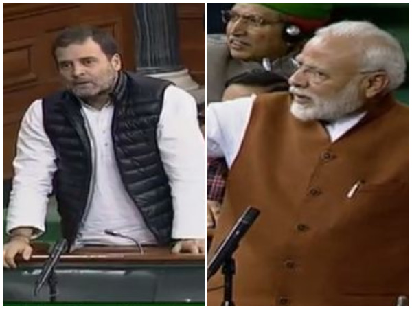 Congress leader Rahul Gandhi and Prime Minister Narendra Modi in Parliament on Thursday.