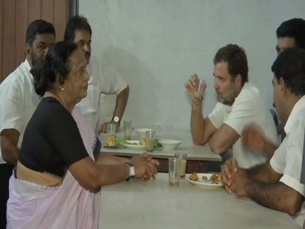 Congress leader Rahul Gandhi in Wayand, Kerala, on Friday. Photo/ANI