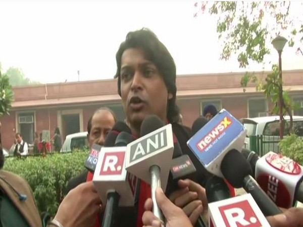 Rahul Easwar speaking to reporters in New Delhi. Photo/ANI