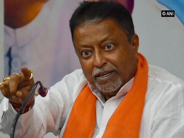 BJP leader Mukul Roy addressing a press conference in Kolkata on Sunday. Photo/ANI