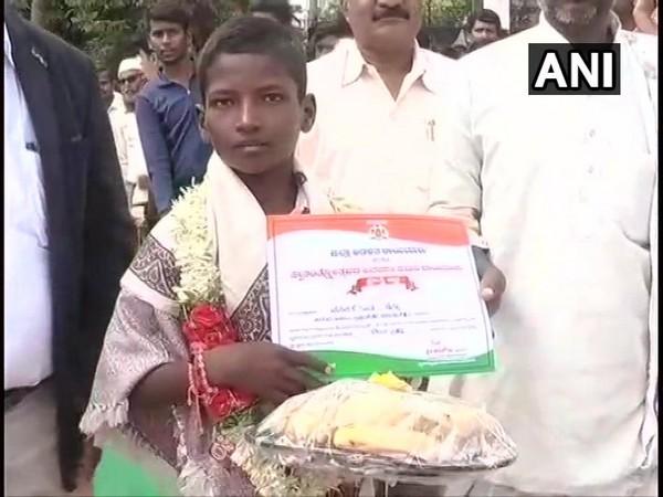 12-year-old Venkatesh felicitated in Raichur