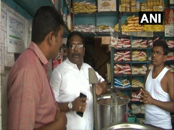 Tamil Nadu Food Department officials conducted raid at general provision stores in K Pudur area of Madurai on Thursday. Photo/ANI