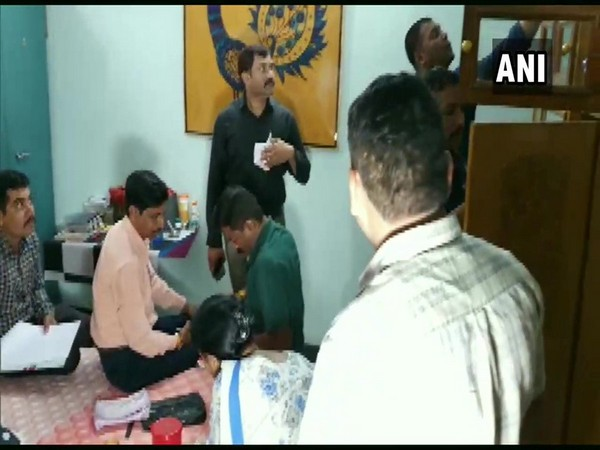 A visual of raids being carrying out at a property owned by Madhya Pradesh state excise department Assistant Commissioner. (Photo/ANI)