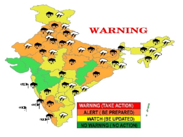 Weather warning issued by IMD. (Photo/ IMD Twitter)