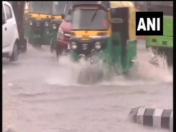 Waterlogging at Kashmiri Gate due to heavy rainfall  [Photo/ANI]