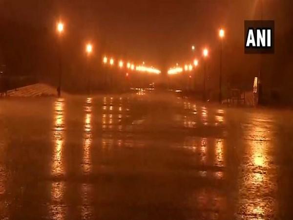 Rain lashes parts of Delhi on Saturday morning, (Photo/ANI)