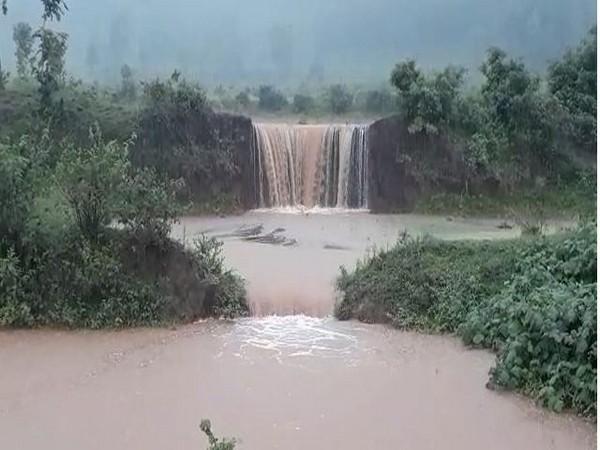 Visuals of rain in Visakhapatnam, Andhra Pradesh.